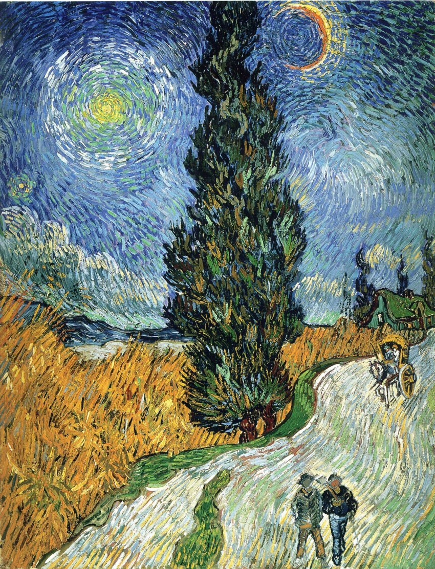 Road with Cypresses, Vincent van Gogh