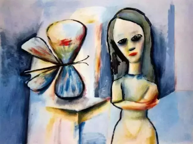 Girl-and-butterfly,Charles Blackman.webp